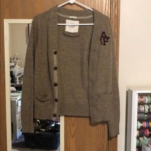 Abercrombie and Fitch cardigan size m color browns